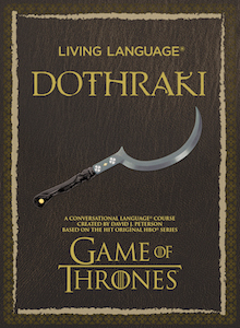 Cover of Living Language Dothraki